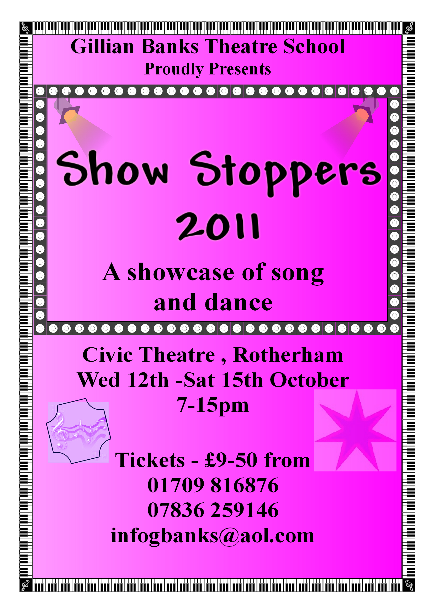 Showstoppers 2011 Poster